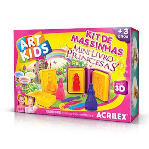 Massa Modelar Acrilex Art Kids Castelo Das Princesas 450 G