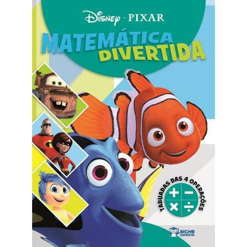 LIVRO DISNEY PIXAR - MATEMATICA DIVERTIDA-TABUADA 4 OPERACOES BICHO ESPERTO