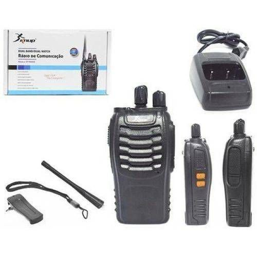 RADIO COMUNICADOR WALKIE TALKIE (PRETO) (KNUP) (KP-M0006)
