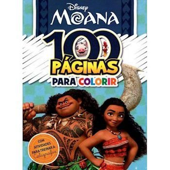 LIVRO DISNEY-100 PAGINAS COLORIR MOANA BICHO ESPERTO