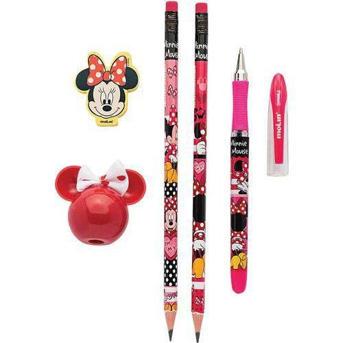 Kit Escolar Minnie 1can+2lap+1borr+1apont