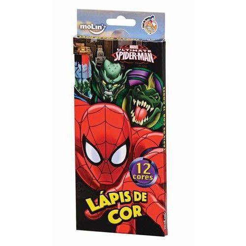 LAPIS DE COR 12 CORES SPIDERMAM (MOLIN)