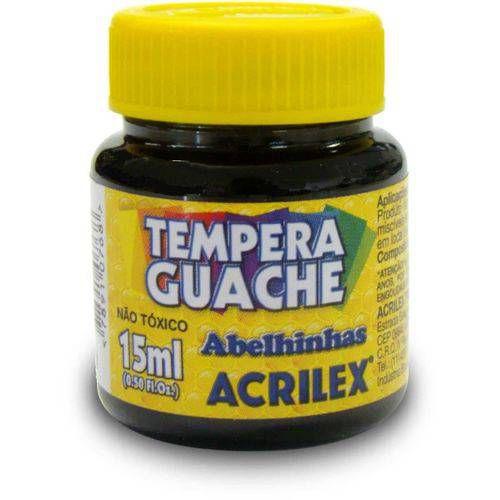 Tinta Guache Preto 15ml