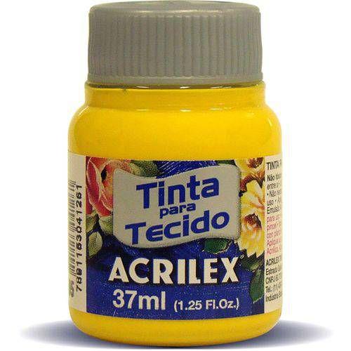 TINTA TECIDO 37ML AMARELO OURO ACRILEX 505
