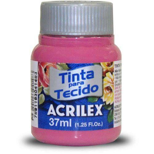 TINTA TECIDO 37ML ROSA ESCURO ACRILEX 542