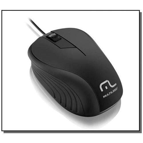 Mouse Emborrachado Preto Com Fio Usb