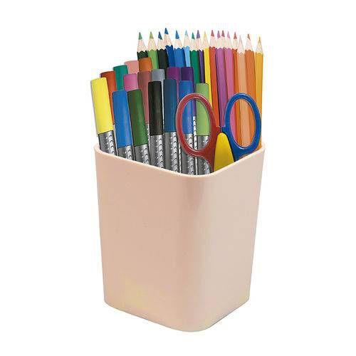 Porta Canetas e Objetos Dello Color Rosa