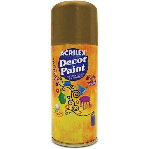 Tinta Spray Pintura Decorativa Ouro 150ml Acrilex