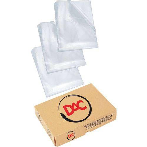 Envelope Plastico Oficio 4furos Fino 0,05mm Dac