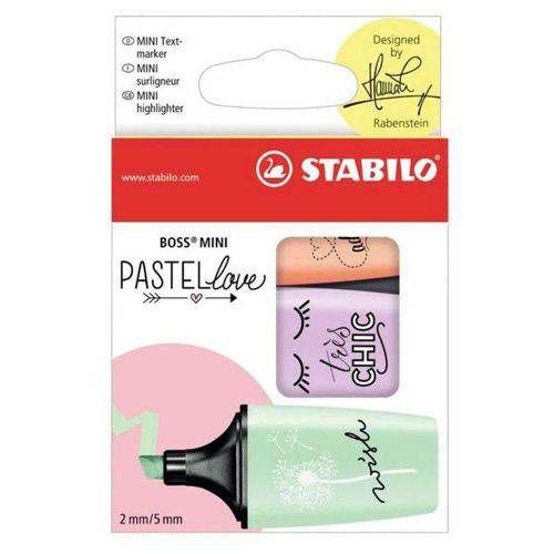 Destaca Texto Stabilo Boss Mini 07/03-47 Pastel Love - Com 3 Cores