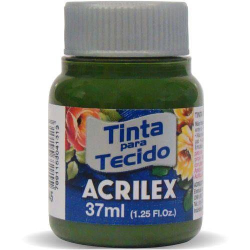 TINTA TECIDO 37ML VERDE OLIVA ACRILEX 545