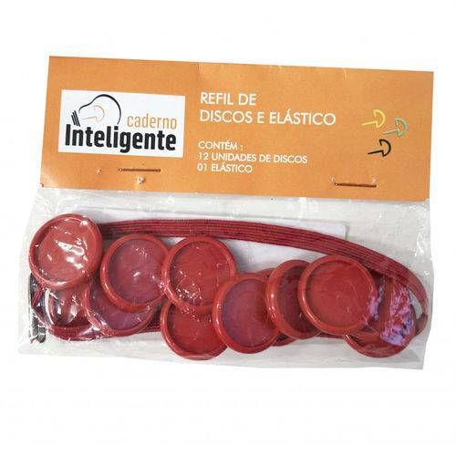 Refil De Disco De Plastico 23mm C.12 E Elastico Vermelho - Ci231007