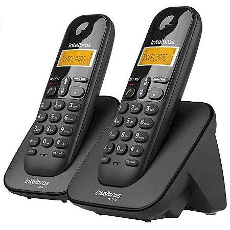 TELEFONE S/FIO C/ID +1RAMAL PRETO INTELBRAS TS3112
