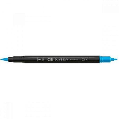 Caneta CIS Aquarelavel Dual Brush Azul Claro 06