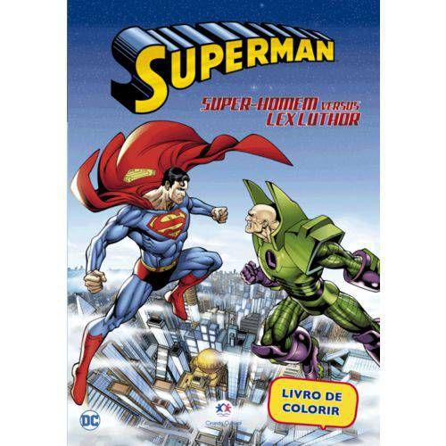 LIVRO PARA COLORIR SUPERMAN SUPER-HOMEM VERSUS LEX LUTHOR CIRANDA CULTURAL