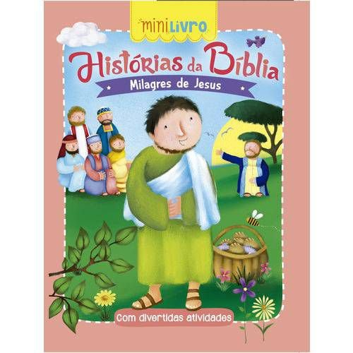 MINI LIVRO HISTORIAS DA BIBLIA MILAGRES DE JESUS CIRANDA CULTURAL