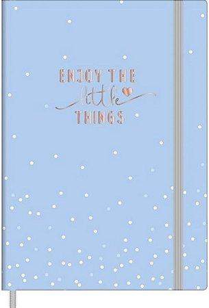 Caderno Sem Pautas Soho Azul 80 Folhas Tilibra