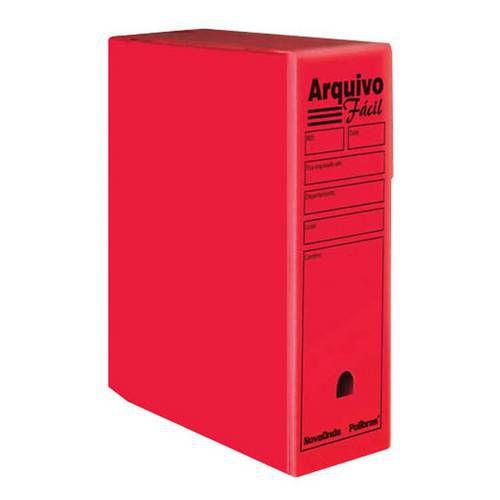 ARQUIVO MORTO 35X25X13  VERMELHO  POLIBRAS  40707