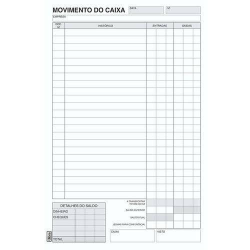 LIVRO MOVIMENTO CAIXA PEQUENO 100F (TILIBRA)(156540)
