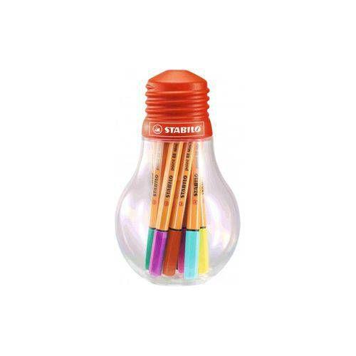 ESTOJO LAMPADA STABILO MINI POINT 88 C/ 12 COLORFUL IDEAS (688/12-061)