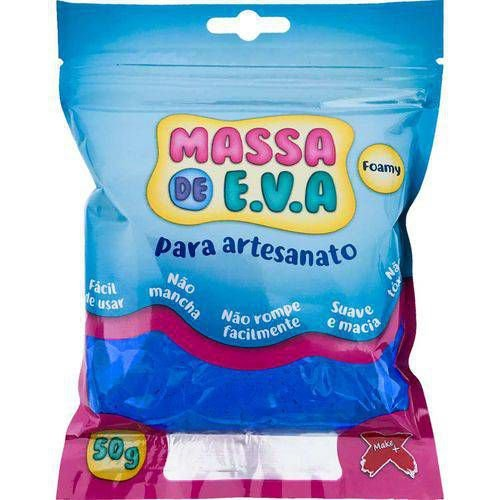 MASSA DE EVA AZUL ESCURO 50G UN GATE 7213.002