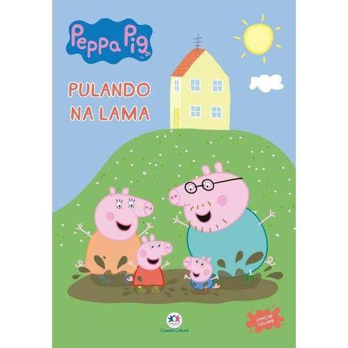 LIVRO PARA COLORIR PEPPA PIG PULANDO NA LAMA CIRANDA CULTURAL