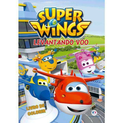 Livro Para Colorir Super Wings Levantando Voo Ciranda Cultural