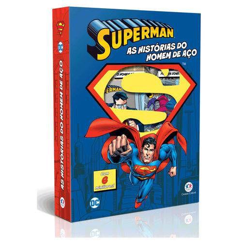 LIVRO BOX SUPER-HOMEM HISTORIAS DO HOMEM DE ACO C/ 6 MINILIVROS (CIRANDA CULTU