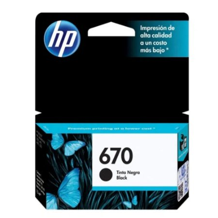 CARTUCHO HP 670 PRETO ORIGINAL