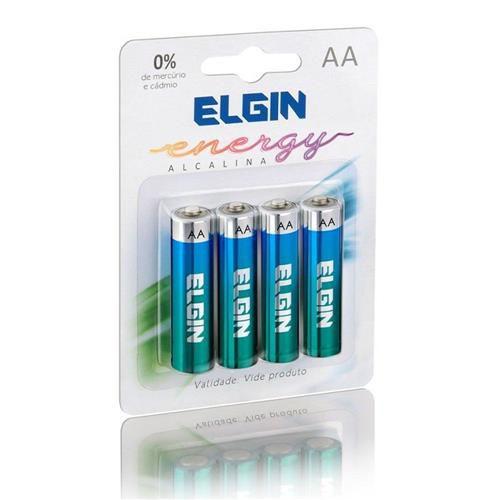 PILHA ALCALINA AA 4UN ELGIN LR6 82153