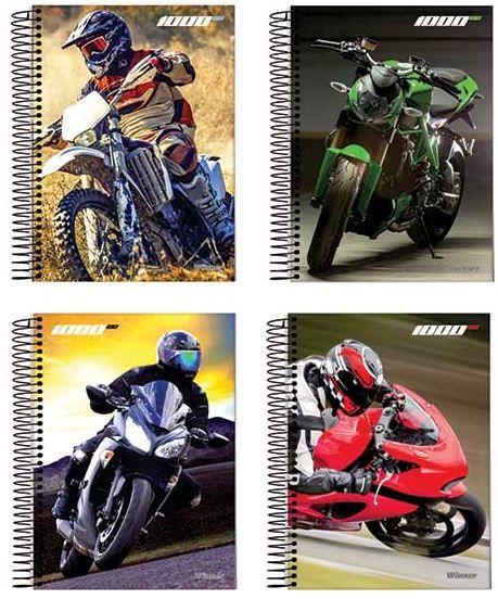 CADERNO CD ESPIRAL 1/4 96F 1000CC MOTO WINNER/JANDAIA