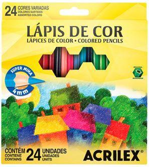 LAPIS DE COR 24 CORES ACRILEX