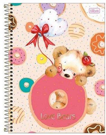 CADERNO CD UNV 10MAT LOVE BEARS TILIBRA