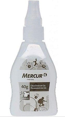 COLA GEL 40G DECORADA PRETA MERCUR
