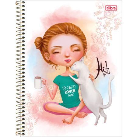 CADERNO CD UNV 01MAT HI GIRLS (TILIBRA)