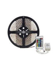 FITA LED COLORIDO 5M CONTROLE/FONTE 12V WORLDCOM 5050/3528