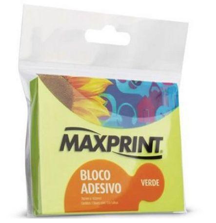 BLOCO ADESIVO NEON VERDE 76X102 MAXPRINT 743421