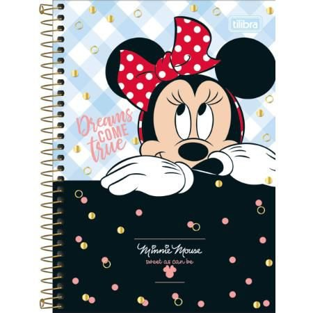 CADERNO CD ESPIRAL 1/4 80F MINNIE (TILIBRA)
