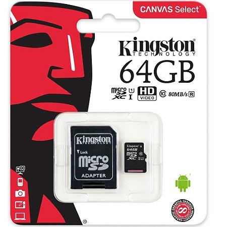 CARTAO DE MEMORIA  64 GB  80MBs SDCS