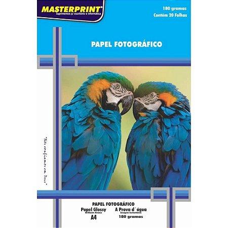 PAPEL FOTOGRAFICO GLOSSY A4 180G 20F PCT MASTERPRINT