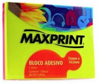 BLOCO ADESIVO NEON 2 CORES ROSA E AMARELO  51X88 60F MAXPRINT 74488-6