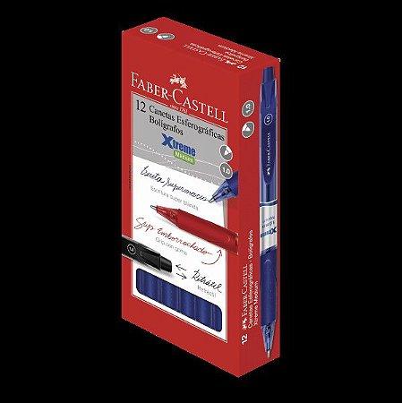 CANETA 1.0MM RETRÁTIL AZUL EXTREME FABER CASTELL