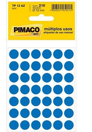 ETIQUETA IDENTIFICACAO TP-12 AZUL 5F UN PIMACO 886595