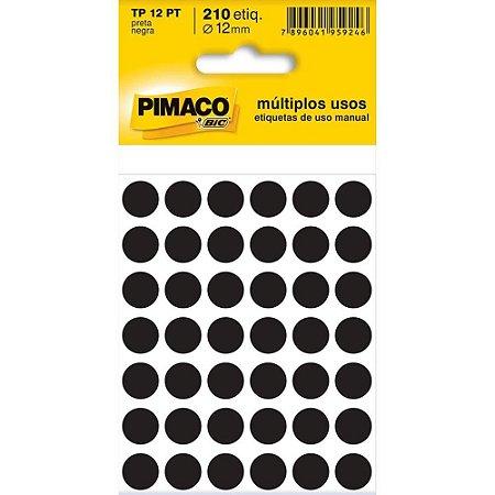ETIQUETA IDENTIFICACAO TP-12 PRETO 5F UN PIMACO 886599