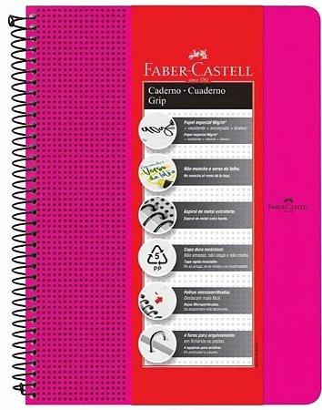 CADERNO GRIP ROSA PAUTADO 80F  90G FABER CASTELL