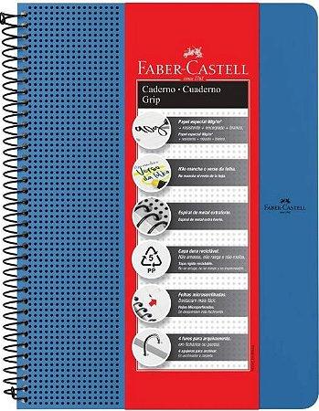CADERNO GRIP AZUL PAUTADO 80F  90G  FABER CASTELL