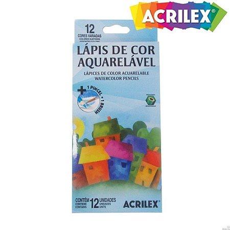 LAPIS DE COR AQUARELAVEL 24 CORES ACRILEX