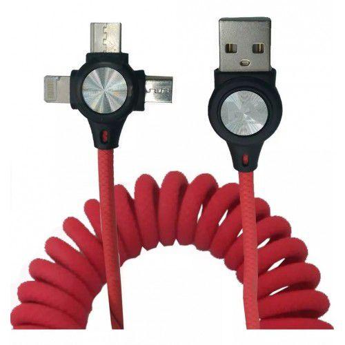 CABO USB ASPIRAL 3 EM 1 MAXMIDIA  MAX-32