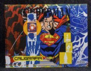 CADERNO CALIGRAFIA HOR CD BROCH 48F SUPERMAN SAO DOMINGOS