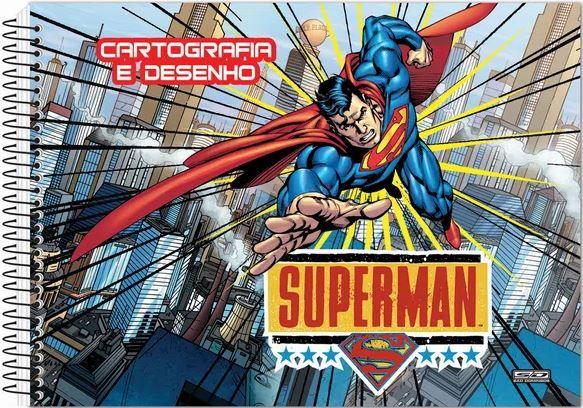 CADERNO DESENHO ESP 60F SUPERMAN SAO DOMINGOS